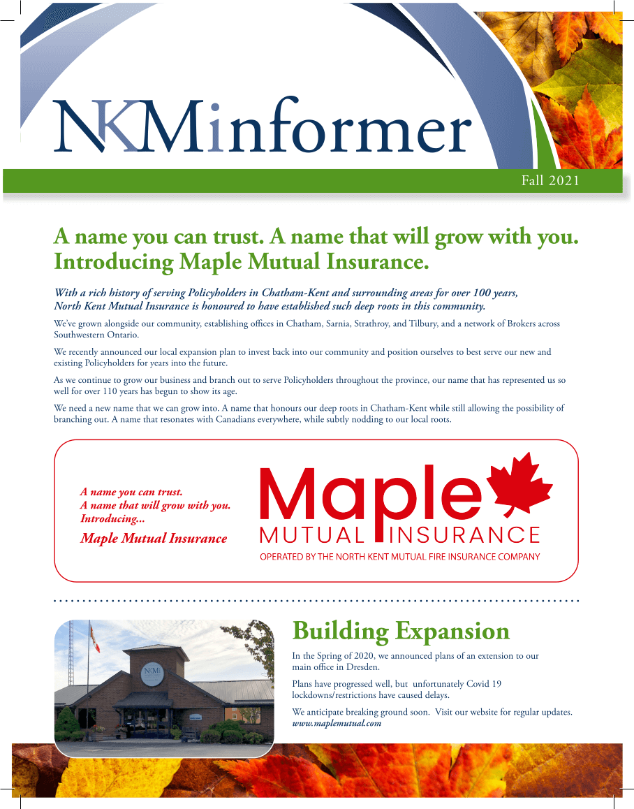 Cover of Fall 2021 Newsletter